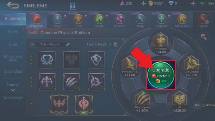Cara Mengganti Emblem Mobile Legends